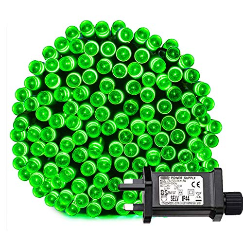 Tuokay Super Bright Plug in Fairy Lights, 22m 200 LED 8 Twinkling Modes Indoor String Lights, Decorative Christmas Lights for Xmas Tree, Gazebo Patio Lawn Yard Fence Wedding Ornament (Green)