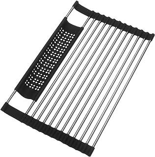 CGboom 水切りラック 折りたたみ 箸乗れ 食器 乾燥 ステンレス 滑り止め キッチン用品 (40*27.5cm)