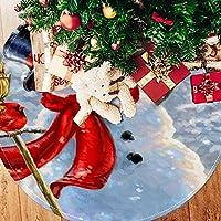 ツリースカート クリスマスツリースカート 雪だるま 赤い鳥 かわいい ホリデーデコレーション メリイクリスマス飾り 下敷物 可愛い 雰囲気 クリスマスパーティー 直径107cm