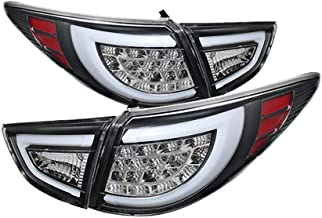 [4-Piece] VIPMOTOZ Black Bezel Premium OLED Neon Tube LED Tail Light Housing Lamp Assembly For 2010-2015 Hyundai Tucson Driver and Passenger Side Replacement