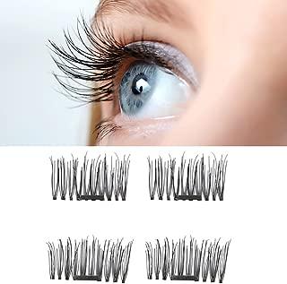 Jijivisha Magnetic False Eyelashes - Best Fake Magnet Eyelashes - One Pair, 4pcs Fake Mink Lashes for a Natural Look – Reusable Extensions with No Glue Needed