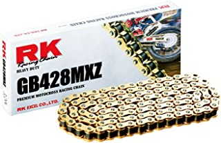 RK Racing Chain GB428MXZ-126 Gold 126-Links Heavy Duty Chain with Connecting Link