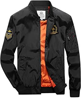 Zackate Mens Casual Jacket Outdoor Sportswear Windbreaker Lightweight Bomber Jackets and Coats Thin and Thicken