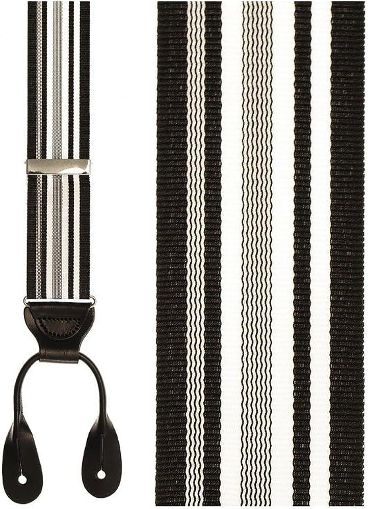 Portland Striped Tuxedo Suspenders
