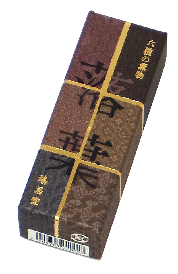 み残基ペイント鳩居堂のお香 六種の薫物 落葉 20本入 6cm