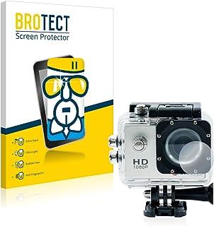 BROTECT Protector Pantalla Cristal Compatible con Qumox SJ4000 Sports HD DV Action CAM Lente (Carcasa) Protector Pantalla Vidrio Dureza 9H AirGlass