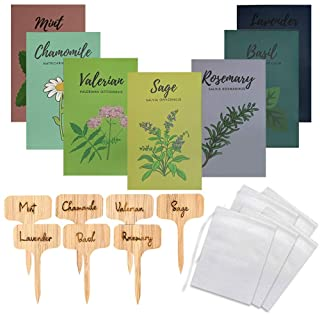 Medicinal Herb Seeds for Planting - Set of 7 Tea Seeds for Planting - Herbal Garden Kit with Lavender, Holy Basil, Rosemar...