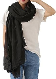 Sciarpa Cotone Donna Stola Scialle Morbido Sciarpa Inverno Grande Sciarpe Donna per Autunno e Inverno 180 * 145cm