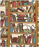 Rannenberg & Friends Reinigungstuch Brillenputztuch Katze im Bücherregal, Microfasertuch Reinigungstücher Brillenputztücher Tücher Kätzchen