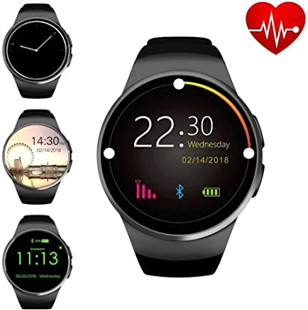 ZAOYI Bluetooth Smartwatch, Round Touch Screen Smart...