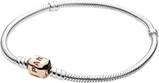 Pandora Women's Moments Sterling Silver Bracelet with Rose Clasp - 580702-19