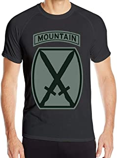 Chengduyatee Men's US Army 10th Mountain Division SSI Patch Decal T Shirts Short Sleeve Quick Dry Athletic Tee