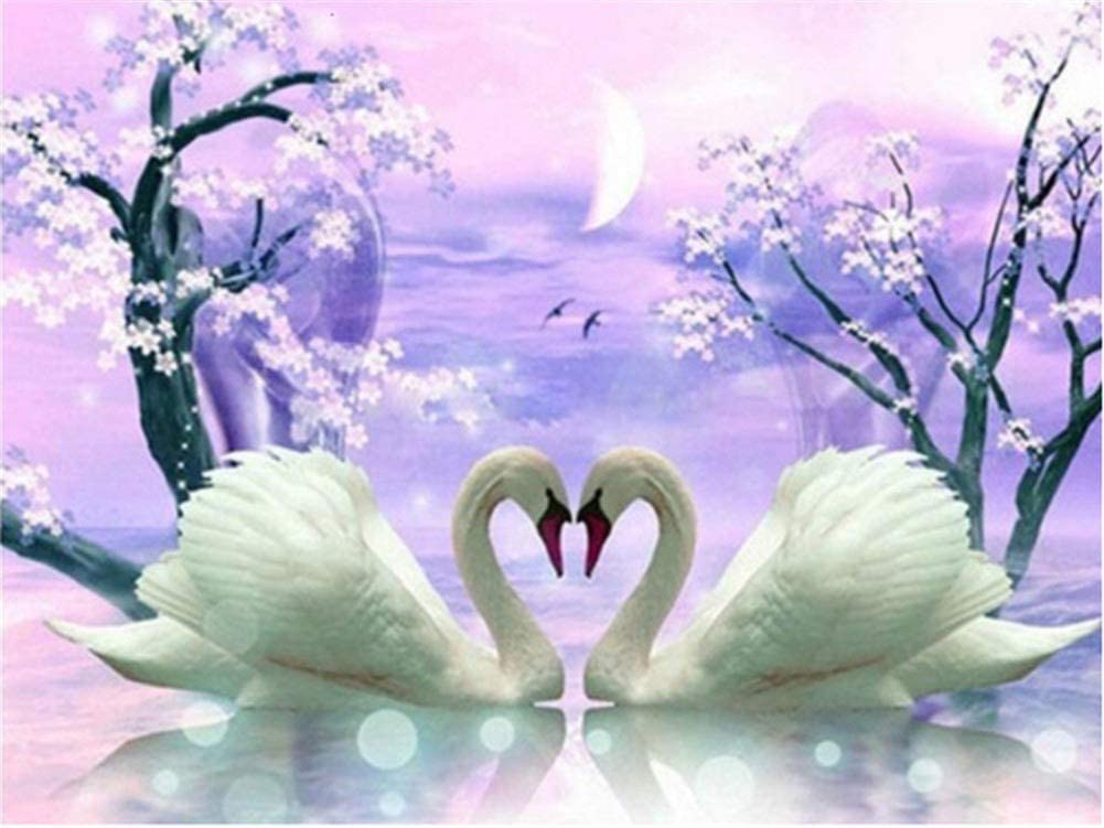 Diamond Embroidery Large DIY Max 84% OFF Attention brand 5D Painting Kits Anima Swan