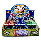Kicko Thunder Cans - 12 Pack, Thunderstorm Noisemakers - 3.5 Inch - for Kids, Party Favors, Birthday Parties, Indoor and Outdoor Play, Props, Videos, Creative Performances, and More