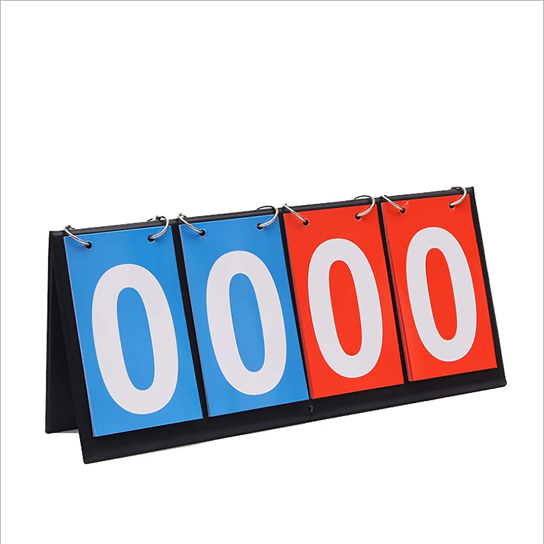 Marcador de puntuación de Golf Flipper Sports Table Top Marcador de Marcador para Baloncesto de Interior al Aire Libre Fútbol Béisbol
