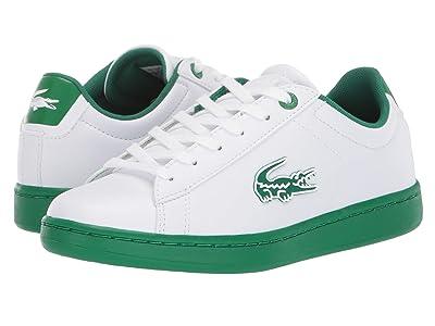 Lacoste Kids Carnaby Evo 319 1 (Little Kid/Big Kid) (White/Green) Kid