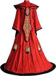 Star Wars The Phantom Menace Queen Padme Amidala Cosplay Costume Dress