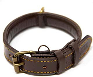 Logical Leather Dog Collar - Best Full Grain Padded Leather Collars
