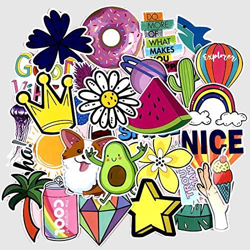 LZWNB Ins Wind Summer Girl Sticker Maleta de Dibujos Animados Lindo Maleta Pegatina Coche eléctrico decoración de la Pared Impermeable