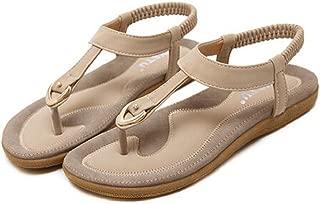 AOJIAN Women Boho Fashion Flat Large Size Casual Sandals Beach Shoes Flip Flop Slide Slipper Clog Mule