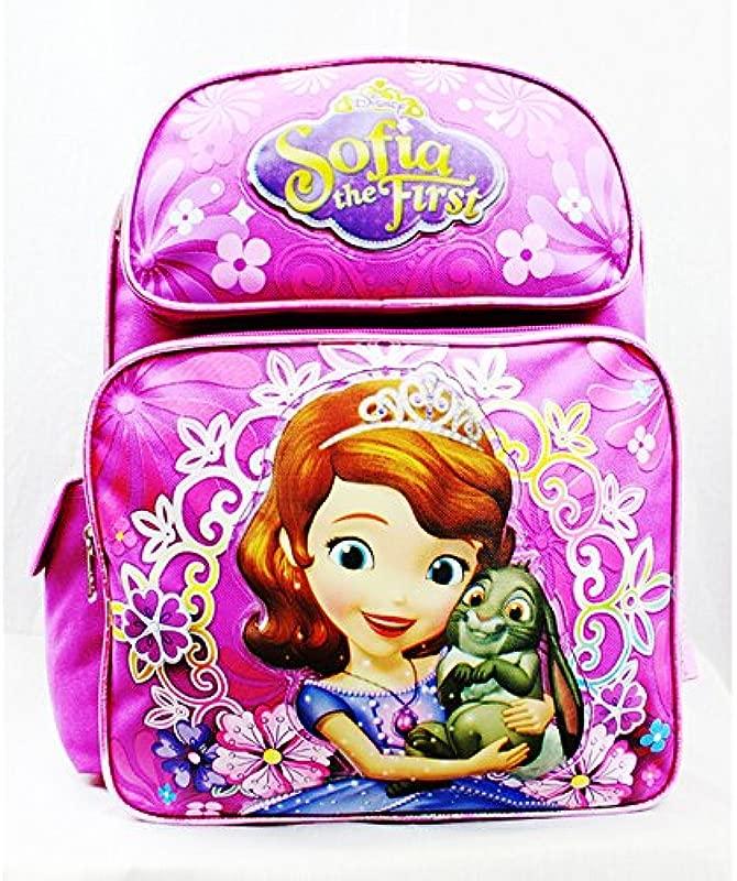 Disney Medium Backpack Sofia The First Flower Bag Pink School Bag A05916