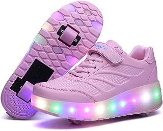 Led Luces Zapatos con Ruedas Dobles para Pequeños Niños y