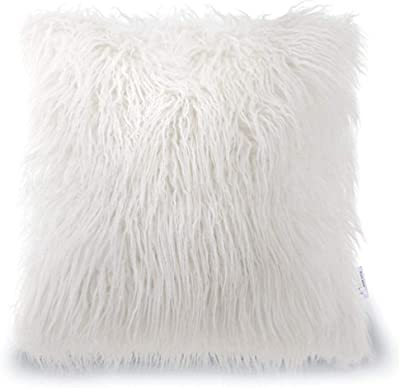 Amazon.com: Carice Rosa Pastel Furry Throw almohada (S ...