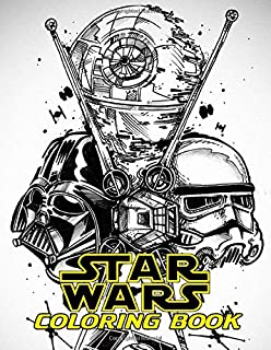 Star Wars Coloring Book: Color All Characters in Star Wars with 50+ Coloring Pages for Kids and Adults