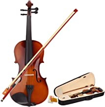 New Violin Starter Kit 4/4 Full Size Student Violin With Bow, Rosin, Case, (Violin for beginners,violin for kids,violin for children,violin for adults) - Natural Colour