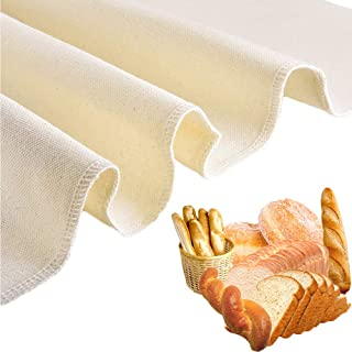 """Bakers Dough Couche - 35.5"""" X 26"""" Professional Heavy Duty 100% Natural Flax Linen Large Bread Proofing Cloth for Baking Fr..."""