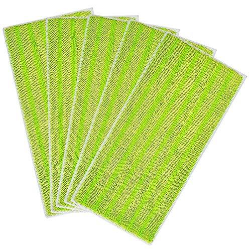 Viudecce Paquete de 5 Almohadillas de Fregona Reutilizables para Recambios de Microfibra de Repuesto Swiffer Wet para Barrido en Seco y en HúMedo