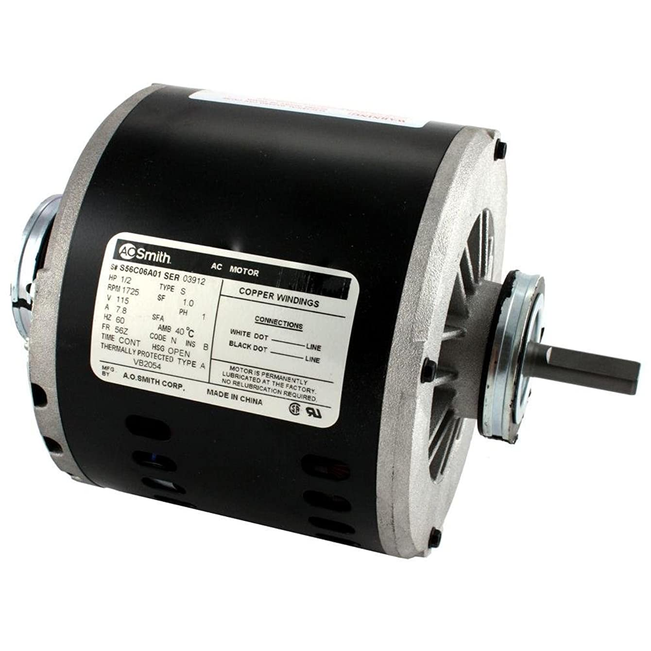 115 Volt 1/2 HP Evaporative Cooler Motor - Single Speed