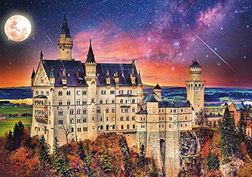 WZXHN DIY Art Puzzle Adultos Adultos Rompecabezas Castle in The Moonlight Art of Collection - Once Upon a Time Jigsaw Puzzle Regalo de vacaciones-1000 Piezas