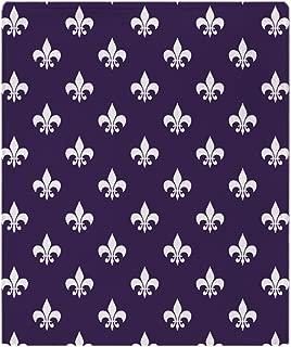 CafePress-Dark Purple Fleur De Lis-Soft Fleece Throw Blanket