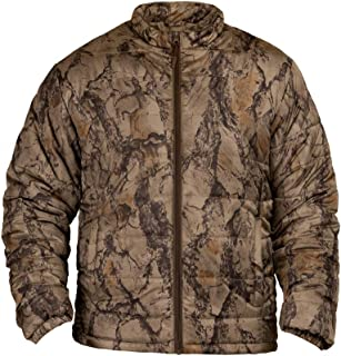 Natural Gear Synthetic Down Camo Jacket for Men, Hunting Jacket Camo Shell Made from 100% Polyester