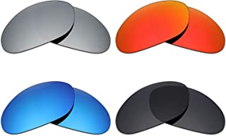 Mryok 4 Pair Polarized Replacement Lenses for Wiley X XL-1 Advanced Sunglass - Stealth Black/Fire Red/Ice Blue/Silver Titanium