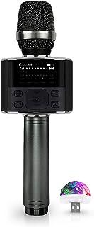 Wireless Bluetooth Karaoke Microphone, with LED Screen,...