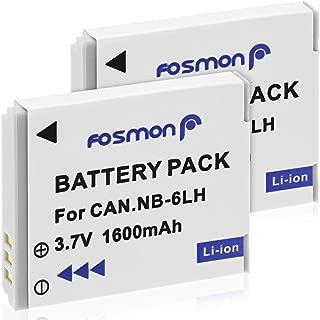 Fosmon Canon NB-6L / NB-6LH【大容量 1600mAh (5.92Wh) / 3.7V】互換バッテリ- パック (2個セット) カメラ用【純正充電器対応】キャノン PowerShot D10, D20, D30, ELPH 500 HS, S90, S95, S120, S200, SD770 IS, SD980 IS, SD1200 IS, SD1300 IS, SD3500 IS, SD4000 IS, SX170 IS, SX240 HS, SX260 HS, SX270 HS, SX280 HS, SX420 IS,SX500 IS, SX510 HS, SX520 HS, SX530 HS, SX540 HS, SX600 HS, SX610 HS, SX700 HS, SX710 HS 等対応