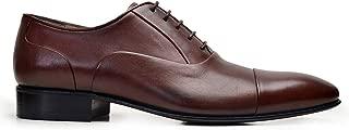 6506-F41 PIY-Antik Kahve 202 Nevzat Onay Bağcıklı Kahverengi Kösele Deri Erkek Ayakkabı