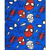 Marvel Spiderman-Lizenzprodukt für Kinder, Jungen & Mädchen, Polar-Fleece-Decke, Überwurf, weicher Korallen-Fleece-Stoff, Größe L