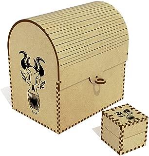 Azeeda  Demon Head  Treasure Chest Jewellery Box  TC00041238