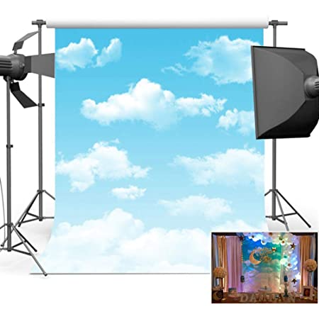 New210x150cm Backdrop Photography Blue Sky Backdrop Vintage Wall Background Cloth Party Wall Background Wedding Party Background Photo Backdrop for Wedding Reception Photography Backdrop Photo Backdro