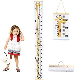Surplex Grafico Altezza Bambini, Parete Metro PatternRighello Rimovibile Altezza Misurazione Righello per Decorazione la Camera da Letto dei Bambino Nursery Ragazzi e Ragazze In Legno