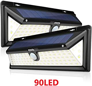 twin solar security light