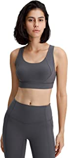Women Yoga Bras, Sexy Shockproof Breathable Workout Gym Running Sports Yoga Bra,Gray,12