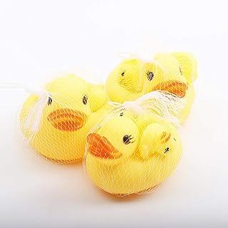 Comomingo Juguetes de baño Nadar Pato Flotador Squeeze Sound Baby Wash Animal para niños