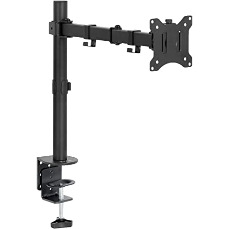 VIVO Single 13 to 32 inch LCD Monitor Desk Mount, Fully Adjustable Stand with Tilt and Swivel, Holds 1 Screen with Max VESA 100x100, STAND-V100B
