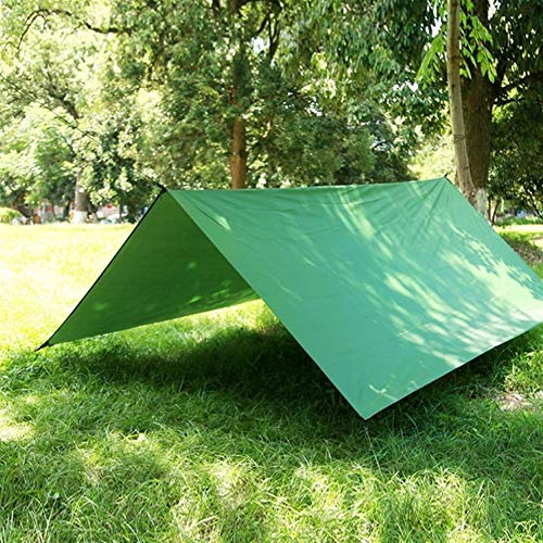No-branded YJXCC Impermeable Sombra pérgola Cubierta Toldo Vela por un Patio al Aire Libre toldo Área de Camping Mat (Color : Verde, Size : Gratis)