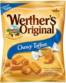 Werther's Original Chewy Toffees Bag, Sweet, Smooth Caramel That is Delightfully Chewy, 135 g