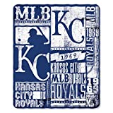 MLB Kansas City Royals Strength Fleece Throw Blanket 50-inch by 60-inch, Blue